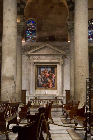 Tableau Madone avec les Saints de Andrea del Sarto et de Giovanni Antonio Sogliani. Photo © Alex Medwedeff