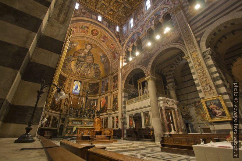 Le chœur en cul-de-four de la cathédrale de Pise. Photo © André M. Winter