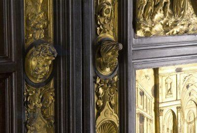 Détail de la porta du Paradiso du baptistère de Florence. Photo © Alex Medwedeff