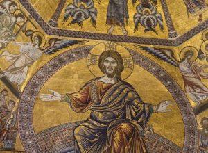 Christ du Jugement dernier monumental de la mosaïque du plafond du Baptistère de Florence. Photo © Alex Medwedeff