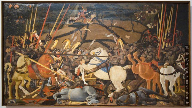 Battaglia di San Romano, Paolo Uccello, vers 1435. Photo © André M. Winter