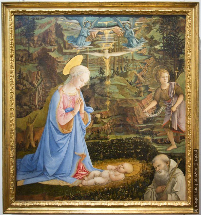 Adorazone del Bambino, Filippo Lippi, vers 1463. Photo © André M. Winter
