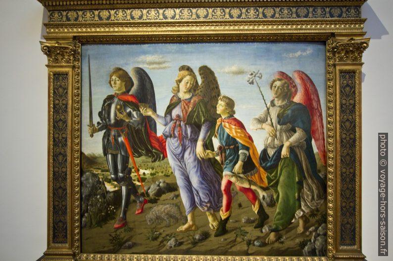 I tre arcangeli e Tobiolo, attr. Francesco Botticini, vers 1470. Photo © André M. Winter