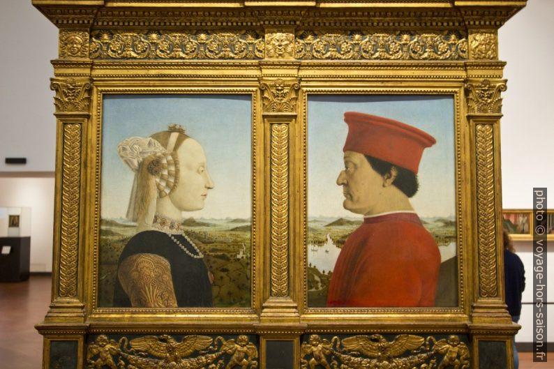 Double Portrait des ducs d'Urbino, Piero della Francesca, vers 1472. Photo © André M. Winter