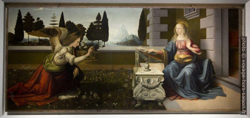 L'Annonciation, Leonardo da Vinci, vers 1472. Photo © André M. Winter