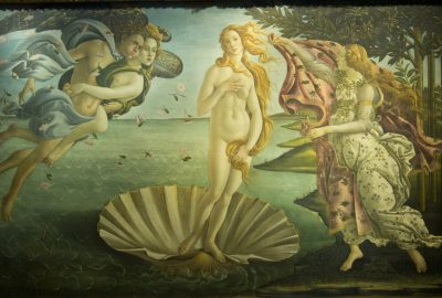 La Naissance de Vénus, Botticelli, vers 1485. Photo © André M. Winter