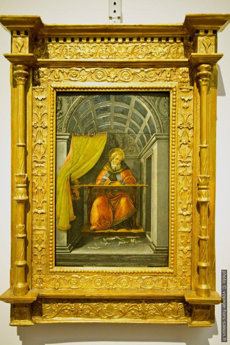 Sant'Agostino nello studio, Botticelli, vers 1490. Photo © André M. Winter