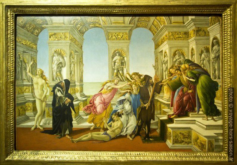 La Calomnie d'Apelle, Botticelli, vers 1495. Photo © André M. Winter
