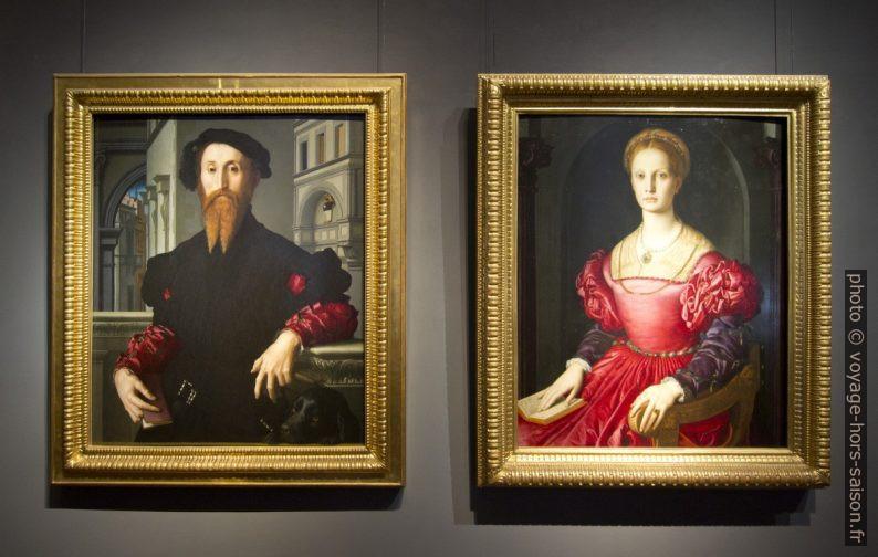 Portraits de Bartolomeo Panciatichi et de Lucrezia Panciatichi, il Bronzino, vers 1540. Photo © André M. Winter