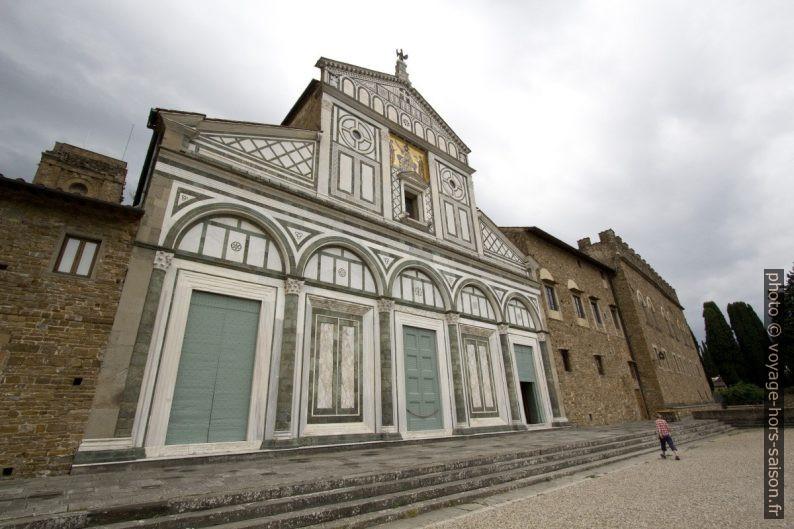 Façade principale en marbre de la Basilique San Miniato al Monte. Photo © André M. Winter