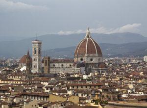 La cathédrale de Florence vue de la Piazzale Michelangelo. Photo © André M. Winter