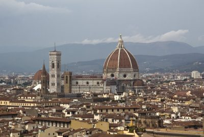 La cathédrale de Florence vue de la Piazzale Michelangelo. Photo © André M. Winter
