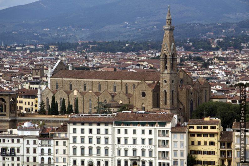 Basilique Santa Croce vue de la Piazzale Michelangelo. Photo © André M. Winter