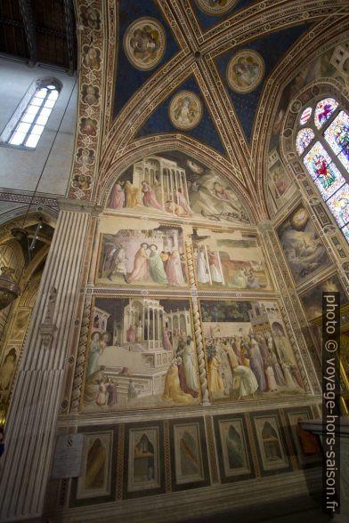 Fresques de la Cappella Baroncelli dans l'église Santa Croce de Florence. Photo © André M. Winter