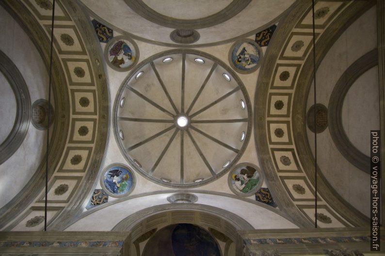 Coupole de la Cappella Pazzi dans le monastère de Santa Croce. Photo © André M. Winter
