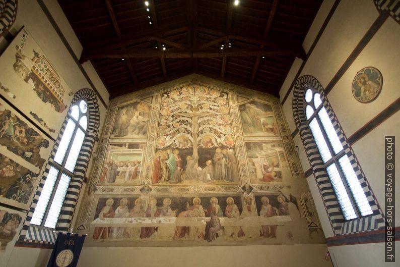 Réfectoire de Santa Croce avec fresques de Taddeo Gaddi. Photo © André M. Winter