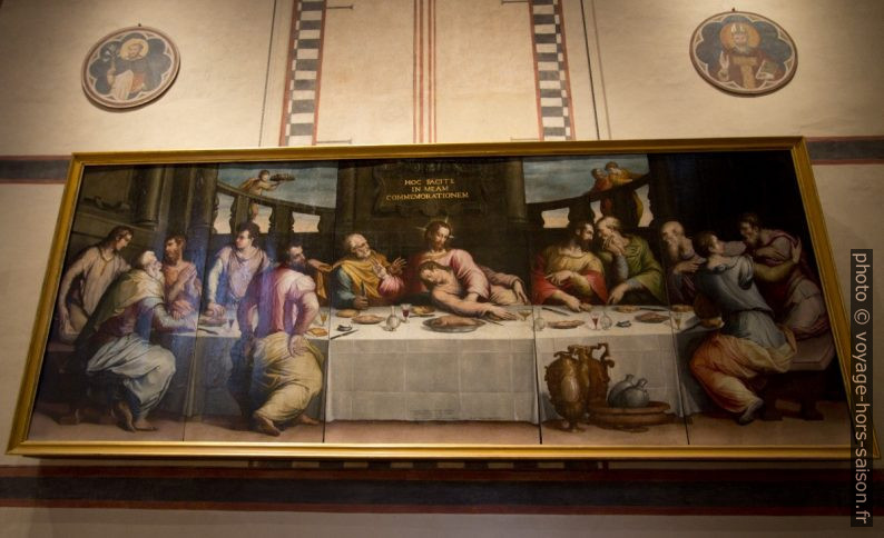 Ultima Cena, Giorgo Vasari, 16e siècle. Photo © André M. Winter
