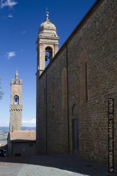 Tour du Palazzo dei Priori et la Chiese Sant'Agostino à Montalcino. Photo © Alex Medwedeff