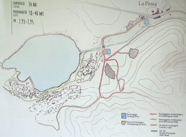 Plan du Lago dell'Accesa. Photo © André M. Winter