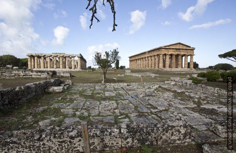 Basilica e Tempio di Nettuno a Paestum. Photo © André M. Winter