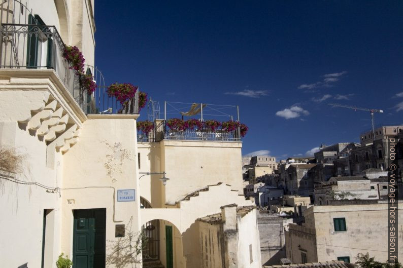 Une terrasse dans le centre de Matera. Photo © André M. Winter