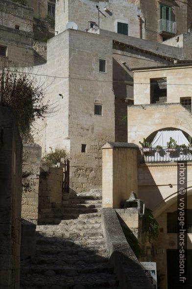 Maisons imbriquées du Sasso Barisano à Matera. Photo © Alex Medwedeff