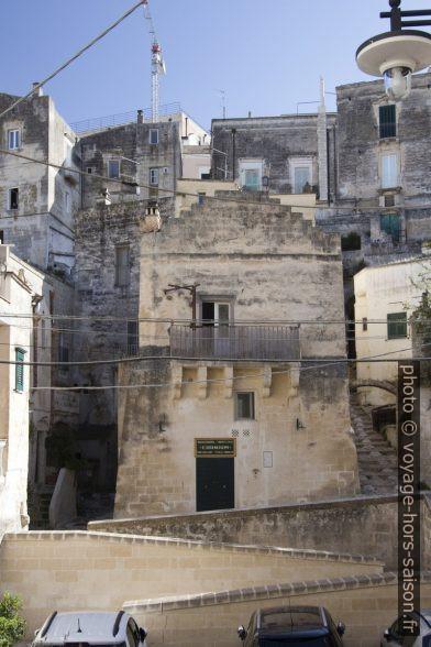 Un petit palais à Sasso Barisano à Matera. Photo © André M. Winter