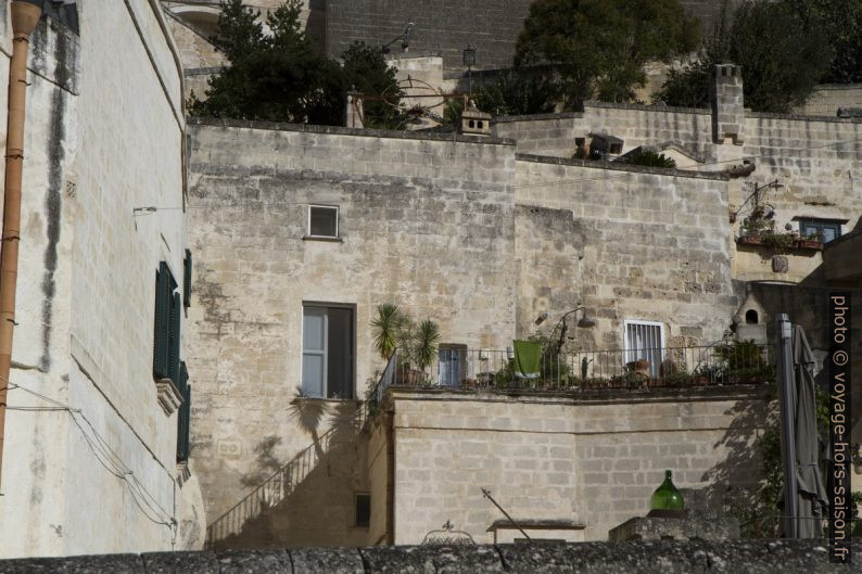Maisons du Sasso Barisano à Matera. Photo © Alex Medwedeff