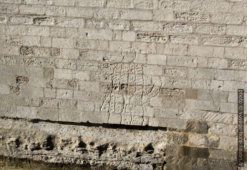 Graffito d'un noble du 16e siècle sur le Castello di Lecce. Photo © André M. Winter