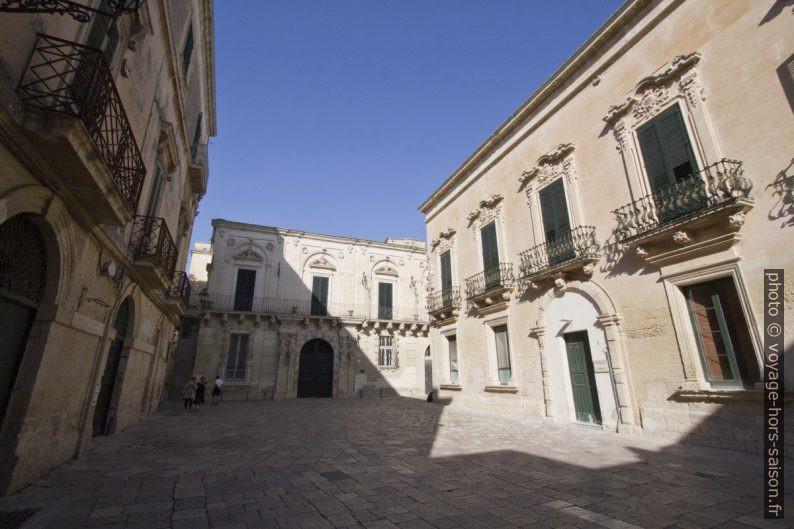 La Piazzeta Ignazio Falconieri à Lecce. Photo © André M. Winter