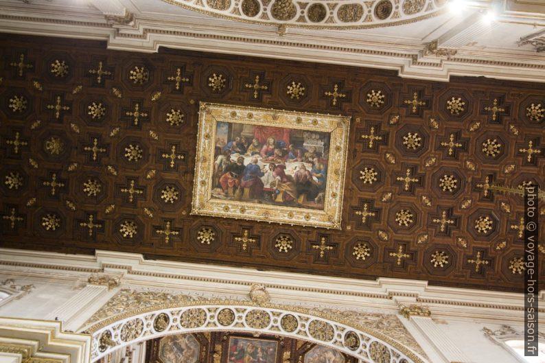 Tableau de la cène sur le plafond de la cathédrale de Lecce. Photo © André M. Winter