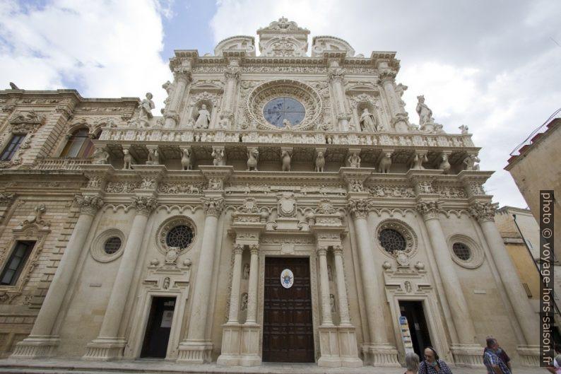 La façade baroque de la Basilica di Santa Croce di Lecce. Photo © André M. Winter