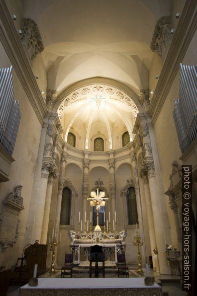 Chœur de la Basilica di Santa Croce de Lecce. Photo © André M. Winter