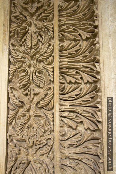 Détail d'une porte murée du cloître de la Chiesa dei Santi Niccolò e Cataldo. Photo © André M. Winter