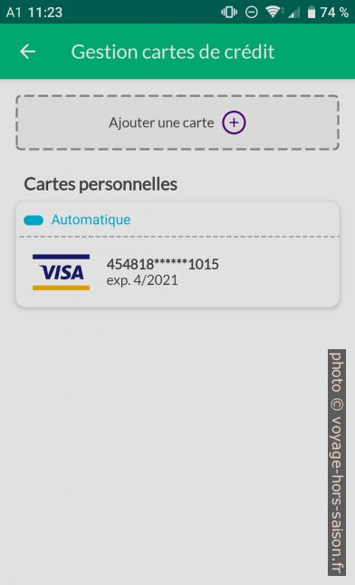 Application Nugo gestion des cartes de crédit. Photo © André M. Winter