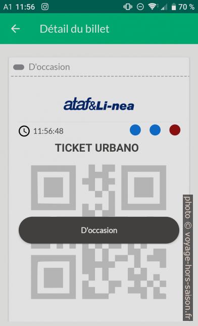 Application Nugo ticket en code QR. Photo © André M. Winter