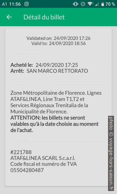 Application Nugo ticket version texte. Photo © André M. Winter