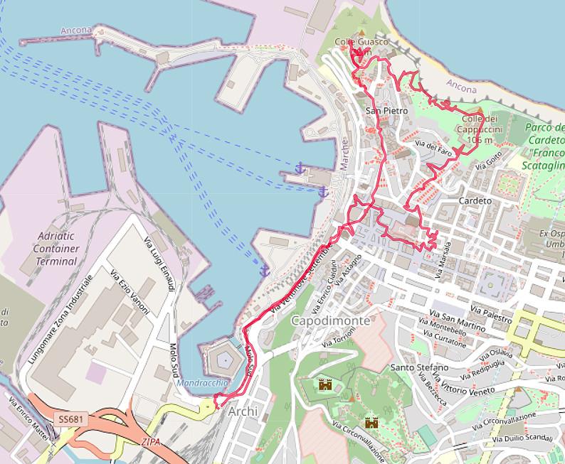 Carte OpenStreetMap d'Ancône