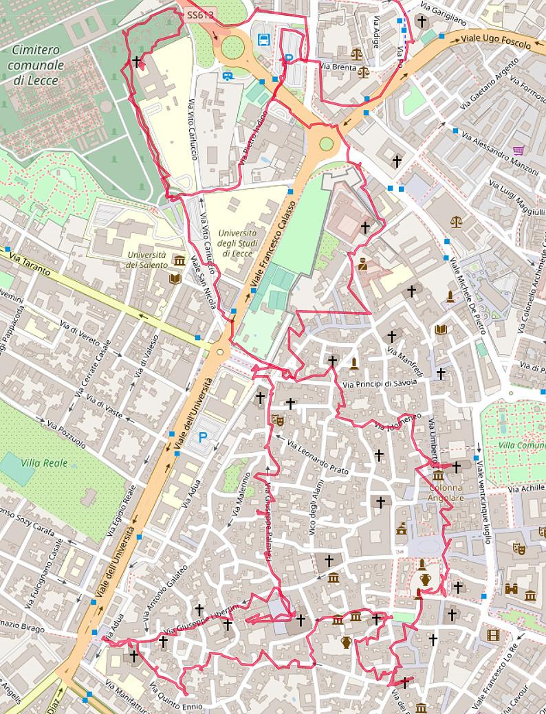 Carte OpenStreetMap de Lecce