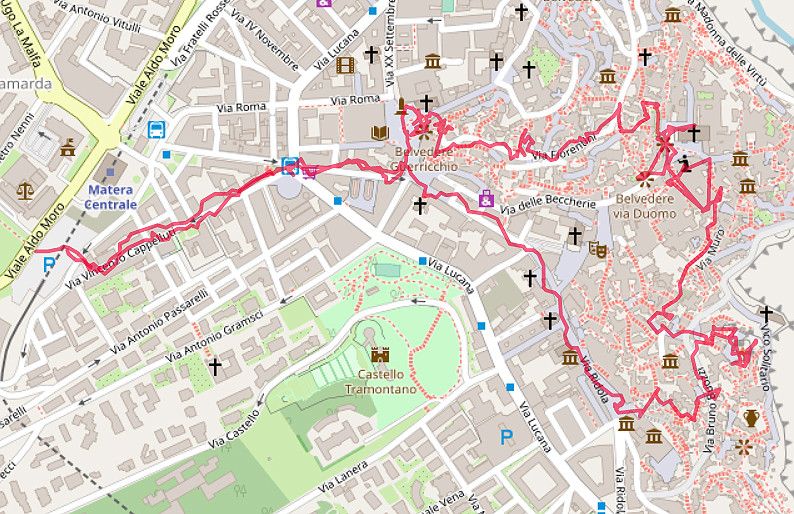Carte OpenStreetMap de Matera