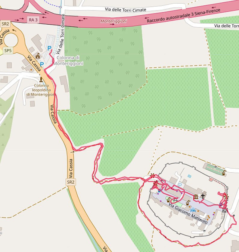 Carte OpenStreetMap de Monteriggioni