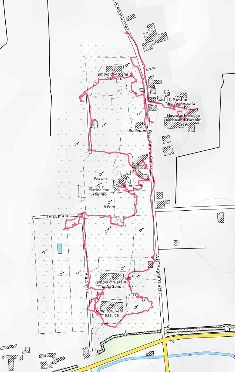 Carte OpenTopoMap de Paestum