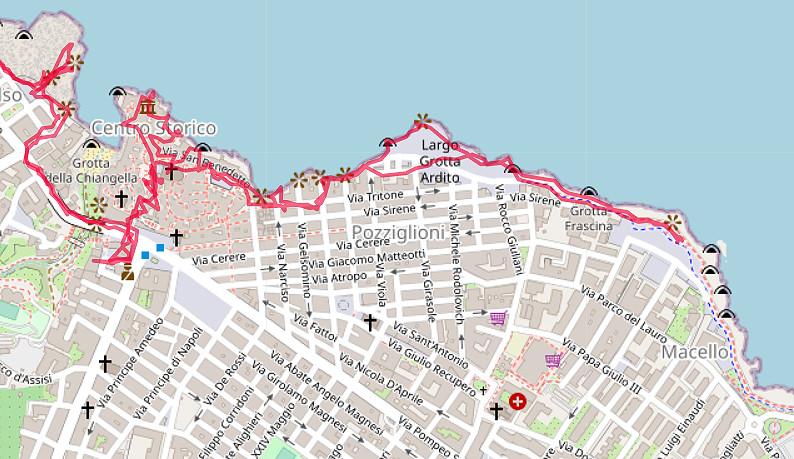 Carte OpenStreetMap de Polignano a Mare