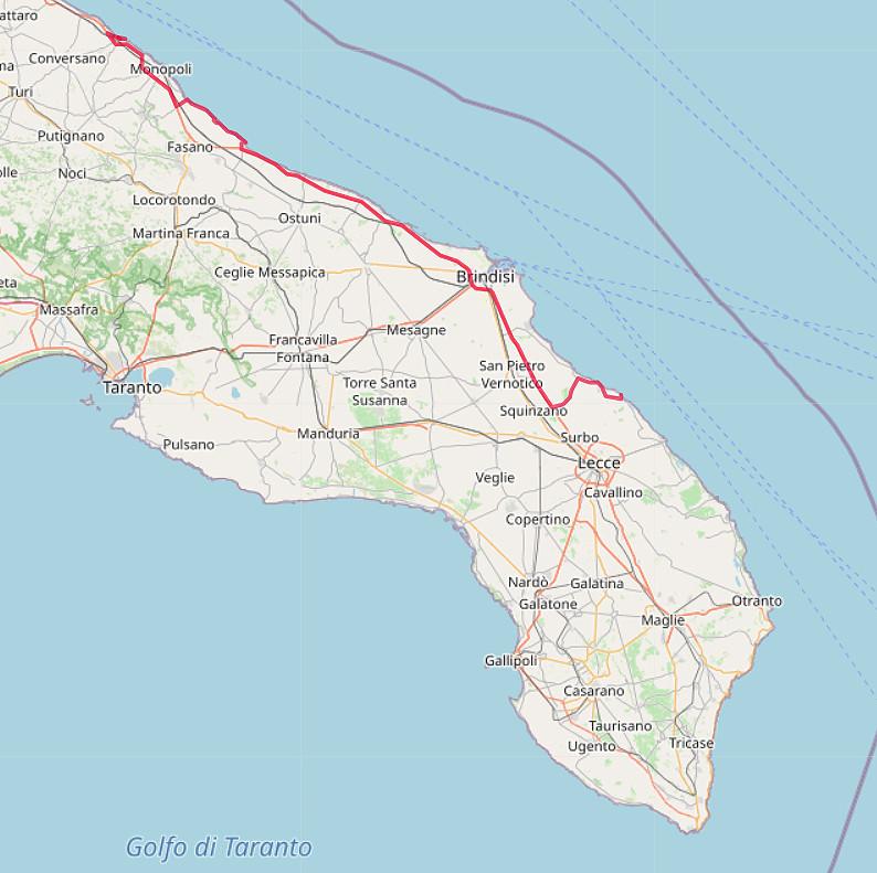 Carte OpenStreetMap de Polignano à Torre Chianca