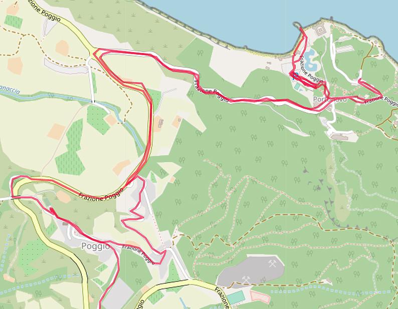 Carte OpenStreetMap de Portonovo et Poggio