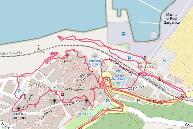 Carte OpenStreetMap de Rodi Garganico