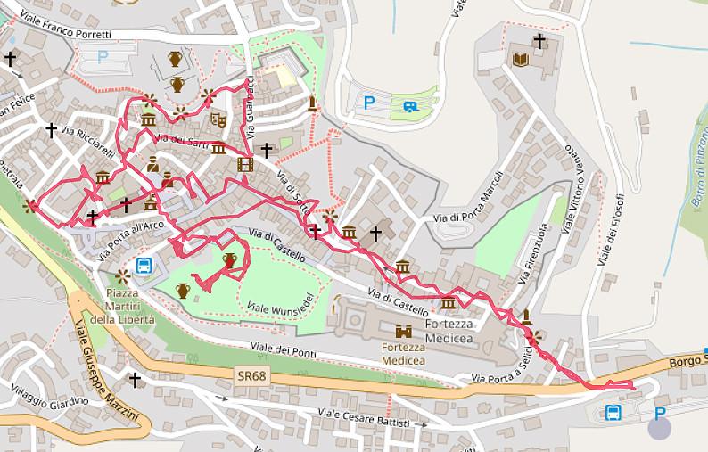 Carte OpenStreetMap de Volterra