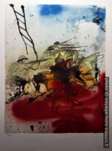 Bataille de la colline de Jérusalem (Battle for Jerusalem) - Aliyah - Dalí - 1968. Photo © André M. Winter