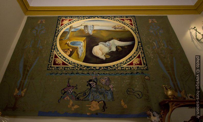 La Persistance de la Mémoire - Dalí - copie en tapisserie - original 1931. Photo © André M. Winter