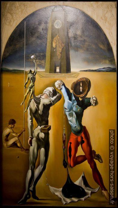 Poésie d'Amérique (Les athlètes cosmiques) - Dalí - 1943. Photo © André M. Winter